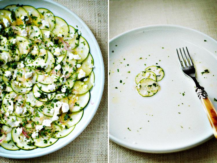 raw zucchini crudo salad