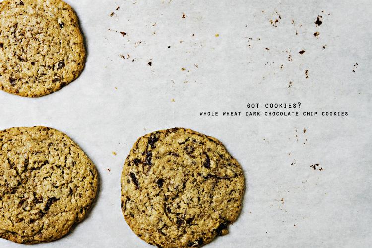 Whole Wheat Dark Chocolate Chip Cookies | kiss my spatula | food ...
