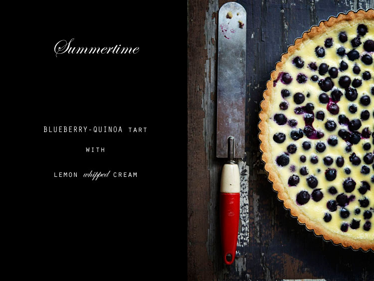 BLUEBERRY QUINOA TART WITH LEMON WHIPPED CREAM